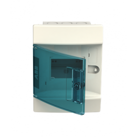 Бокс в нишу ABB Mistral41 4М зеленая дверь без клемм