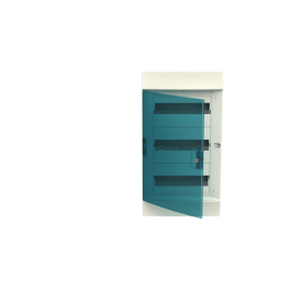 Бокс в нишу ABB Mistral41 36М зеленая дверь 3 ряда без клемм