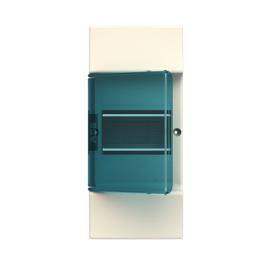 Бокс настенный ABB Mistral41 4М  зеленая дверь без клемм