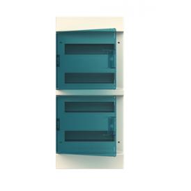 Бокс настенный ABB Mistral41 48М зеленая дверь без клемм