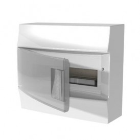 Бокс настенный ABB Mistral41 8М прозрачная двери с клеммами