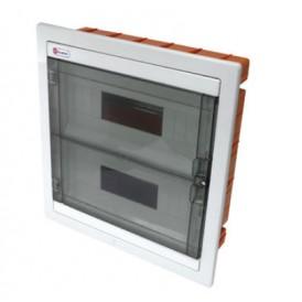 Шкаф скрытой установки на 24 автомата 344х325х90 Экопласт