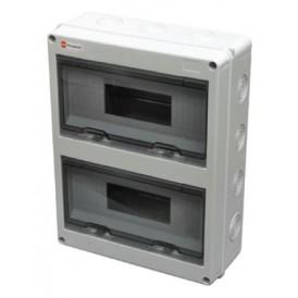 Шкаф открытой установки на 24 автомата 355х275х10 IP65 Экопласт
