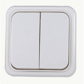 Выключатель 2-кл. Экопласт Standard белый