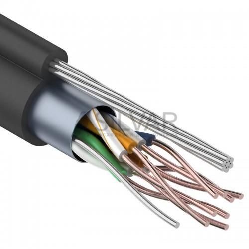 Витая пара, FTP-кабель FTP  4PR  24AWG  CAT5e  305м  OUTDOOR + ТРОС*7 REXANT