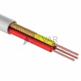 Комбинированный кабель для видеонаблюдения ШВЭВ  3x0,12 мм², белый,  100м,  REXANT