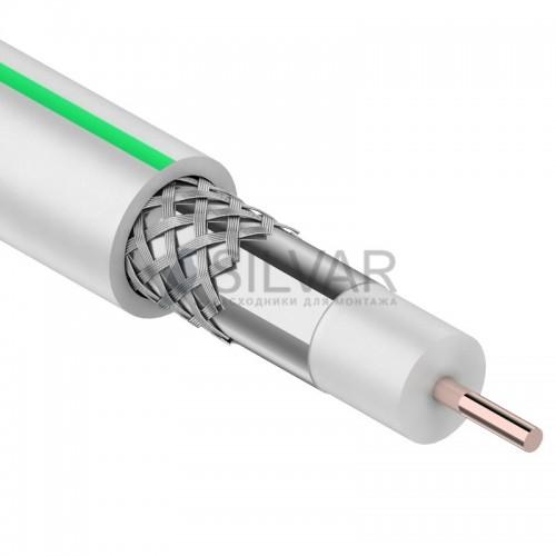 Кабель коаксиальный SAT 703 B,  CCS/Al/Al 75%, белый, 100м,  PROconnect
