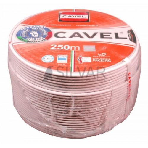 Кабель коаксиальный SAT 50 M,  Cu/Al/CuSn 64%, белый, 100 м, CAVEL