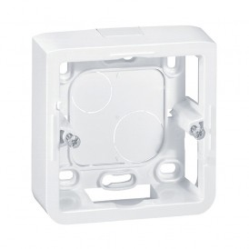 Коробка накладная 2 модуля Legrand Mosaic 080280 белая