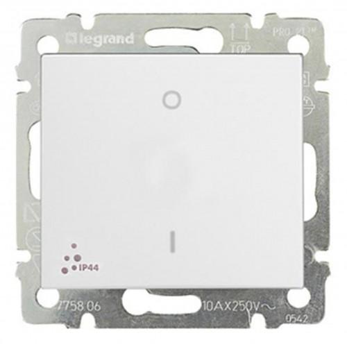 Выключатель 1-кл. 2 полюса IP44 Legrand Valena 770092 белый