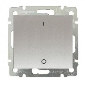 Выключатель 1-кл. 2 полюса IP44 Legrand Valena 770102 алюминий