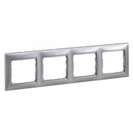Рамка 4-постовая Legrand Valena 770154 алюминий