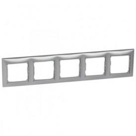 Рамка 5-постовая Legrand Valena 770155 алюминий