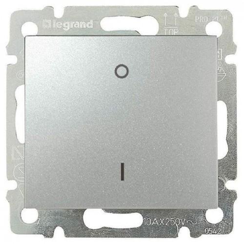 Выключатель 1-кл. 2 полюса Legrand Valena 770204 алюминий