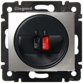 Розетка акустическая Legrand Valena 770223 алюминий