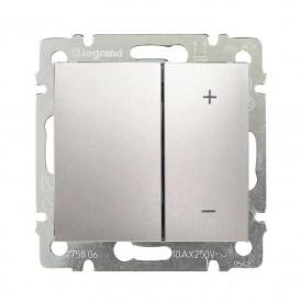 Светорегулятор 2-кнопочный 400Вт Legrand Valena 770262 алюминий