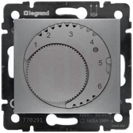 Термостат для теплого пола Legrand Valena 770291 алюминий