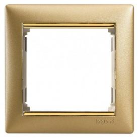 Рамка 1-постовая Legrand Valena 770301 матовое золото