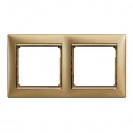 Рамка 2-постовая Legrand Valena 770302 матовое золото
