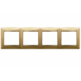 Рамка 4-постовая Legrand Valena 770304 матовое золото