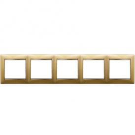Рамка 5-постовая Legrand Valena 770305 матовое золото