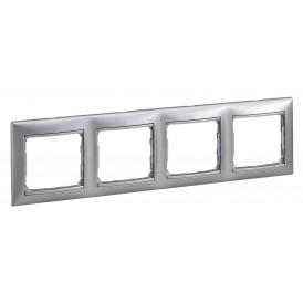 Рамка 4-постовая Legrand Valena 770334 алюминий матовый