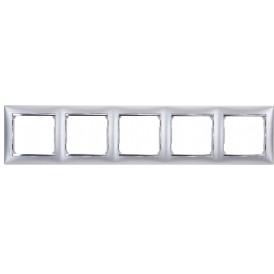 Рамка 5-постовая Legrand Valena 770335 алюминий матовый