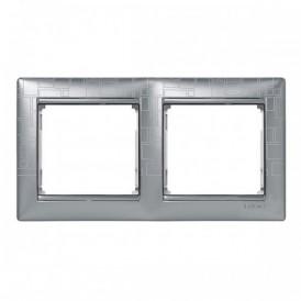 Рамка 2-постовая Legrand Valena 770342 алюминий модерн