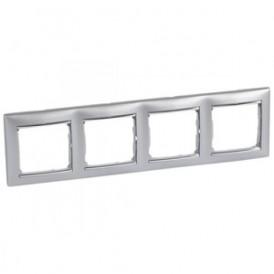 Рамка 4-постовая Legrand Valena 770354 алюминий/серебро