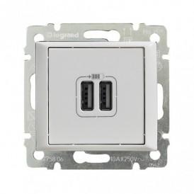 Розетка USB двойная Legrand Valena 770470 белая