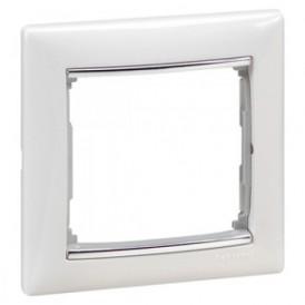 Рамка 1-постовая Legrand Valena 770491 белая/серебро