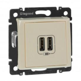 Розетка USB двойная Legrand Valena 774170 слоновая кость