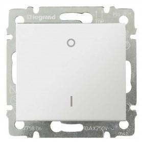 Выключатель 1-кл. 2 полюса Legrand Valena 774402 белый