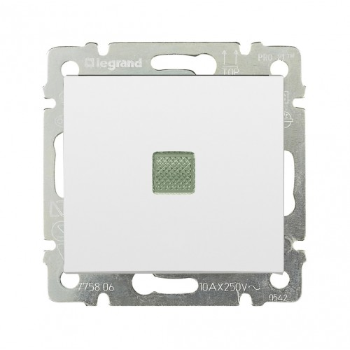 Выключатель 1-кл. с подсветкой Legrand Valena 774410 белый
