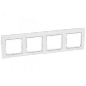 Рамка 4-постовая Legrand Valena 774464 белая кристалл