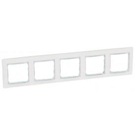 Рамка 5-постовая Legrand Valena 774465 белая кристалл
