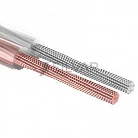 Акустический кабель 2х0.50 мм, прозрачный SILICON REXANT