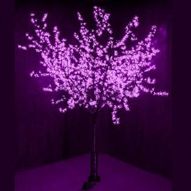 """Светодиодное Дерево """"Сакура"""", высота 2,4м, диаметр кроны 2,0м, фиолетовые диоды, IP 65 Neon-night 531-126"""