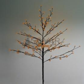 """Дерево комнатное """"Сакура"""", коричневый цвет ствола и веток, высота 1.2 метра, 80 светодиодов теплого белого цвета Neon-night 531-247"""