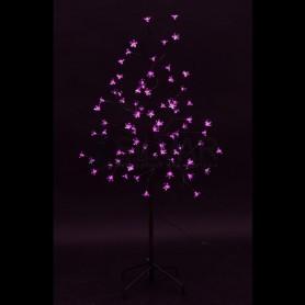 """Дерево комнатное """"Сакура"""", коричневый цвет ствола и веток, высота 1.2 метра, 80 светодиодов розового цвета Neon-night 531-248"""