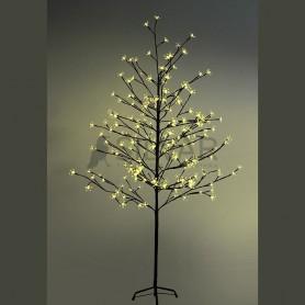 """Дерево комнатное """"Сакура"""", коричневый цвет ствола и веток, высота 1.5 метра, 120 светодиодов желтого цвета Neon-night 531-261"""