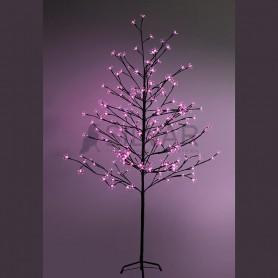 """Дерево комнатное """"Сакура"""", коричневый цвет ствола и веток, высота 1.5 метра, 120 светодиодов розового цвета Neon-night 531-268"""