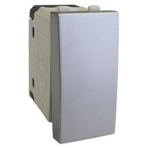 Выключатель 45х22,5 мм серебристый металлик Экопласт LK45