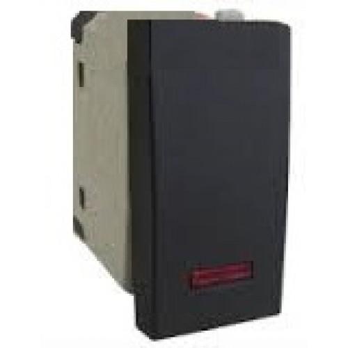 Выключатель с индикатором 45х22,5 мм черный бархат Экопласт LK45