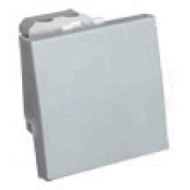 Выключатель 45х45 мм серебристый металлик Экопласт LK45