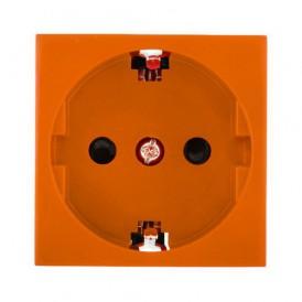 Розетка с заземлением Экопласт LK45 без шторок оранжевый