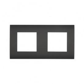 Рамка 2-постовая  Экопласт LK45 черный бархат