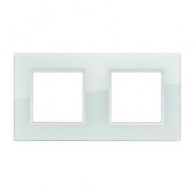 Рамка 2-постовая из натурального светлого стекла LK45 Экопласт