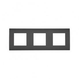 Рамка 3-постовая  Экопласт LK45 черный бархат