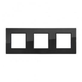 Рамка 3-постовая из натурального темного стекла LK45 Экопласт